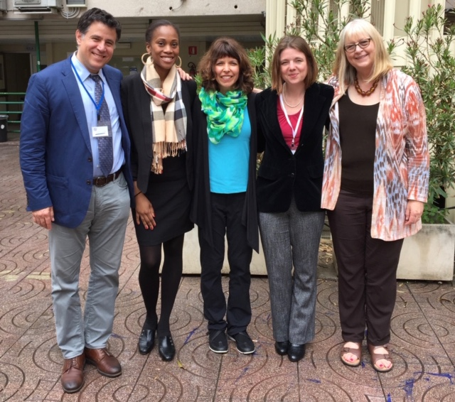 Damira and her coauthors on May 2016 at an international mindfulness conference in Rome, IT. Pictured from left to right is Joshua Brown, Damira Rasheed, Deborah Schussler (not a coauthor), Sebrina Doyle, and Tish Jennings.