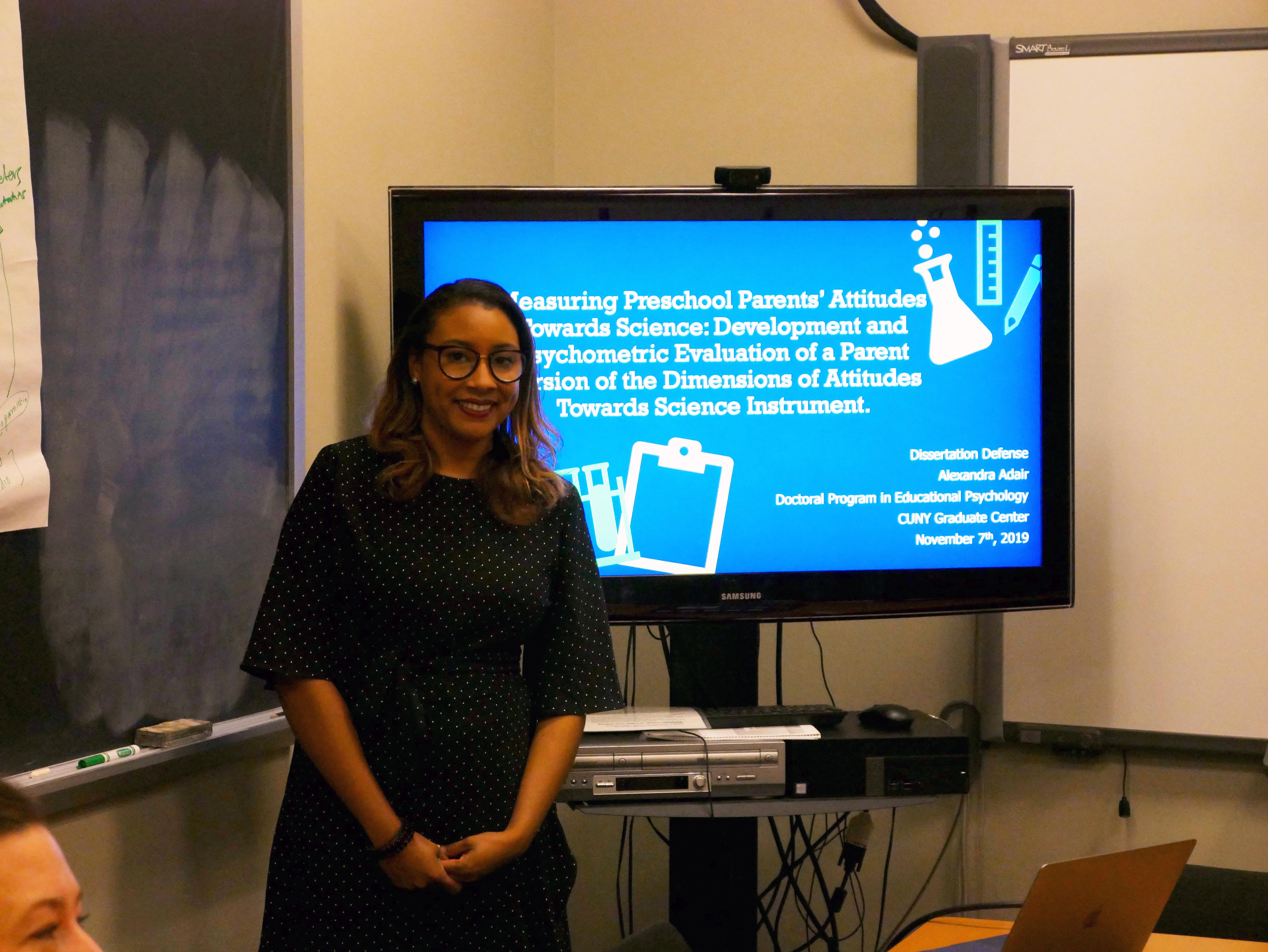 Alexandra Adair at her dissertation defense
